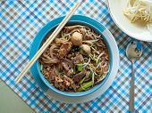 Thai Food Noodle Name Is Ayutthaya Boat Noodle,famous Food In Thailand,include Thin Rice Noodles Por poster