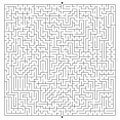 Abstract Complex Square Maze With Entrance And Exit. An Interesting Game For Children And Adults. A  poster