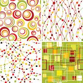 Set of seamless geometric backgrounds.