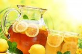 picture of iced-tea  - Summer lemon ice tea - JPG