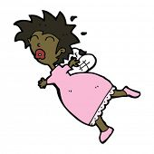 foto of tooth-fairy  - cartoon stressed tooth fairy - JPG