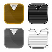 Vector Design Of Scales And Diet Logo. Web Element Of Scales And Balance Stock Symbol For Web. poster