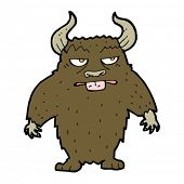 image of minotaur  - cartoon minotaur - JPG