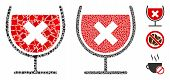 Stop Drink Wine Icon Mosaic Of Rough Items In Variable Sizes And Color Hues, Based On Stop Drink Win poster