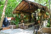 Beautiful Hut At Ban Suan Resort In Amphoe Banrai, Uthaithani Province, Thailand. The Hut For Touris poster