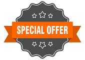 Special Offer Isolated Seal. Special Offer Orange Label. Special Offer poster