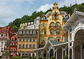 City Centre Of Karlovy Vary,czech Republic