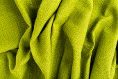 Wave Green Natural Linen Fabric Textile Material Texture As A Background. Green Textile Pattern For  poster