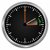 pic of daylight saving time  - clock with daylight saving time on white background - JPG
