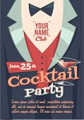 stock photo of cocktail  - Cocktail party poster - JPG
