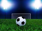 Постер, плакат: Футбольный мяч на точки пенальти