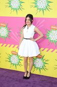 LOS ANGELES - MAR 23:  Lucy Hale arrives at Nickelodeon's 26th Annual Kids' Choice Awards at the USC