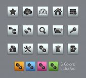 FTP & Hosting Icons // Satinbox Series -------It includes 5 color versions for each icon in differen