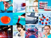 picture of microbiology  - scientific design elements Collage  - JPG