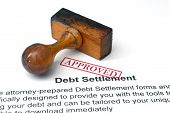 foto of deed  - Close up of Debt settlement  - JPG