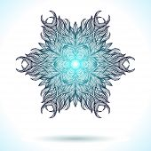 picture of boxing day  - Mandala design for winter holiday card - JPG