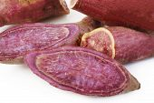 picture of batata  - purple sweet potatoes on a white background - JPG