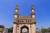 image of charminar  - Charminar  the main tourist attraction of Hyderabad - JPG