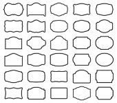foto of packages  - Thirty blank vector labels  - JPG