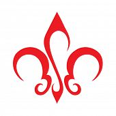 foto of french curves  - Abstract Fleur De Lis Icon - JPG