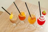 Four Non Alcoholic Cocktails