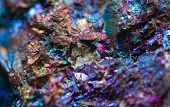 foto of iron pyrite  - Crystal nugget gold bronze copper iron - JPG