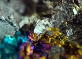stock photo of iron pyrite  - Abstract background gold bronze copper iron - JPG