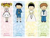 stock photo of communion  - set First Communion - JPG