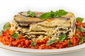 pic of aubergines  - Vegetable lasagne - JPG