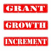 Grant, Growth, Increment Stamps poster