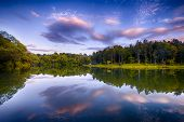 stock photo of bayou  - reflection nong chang khot chiang rai thailand - JPG