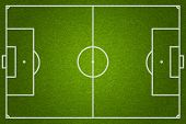 stock photo of football  - soccer or football field top view - JPG