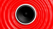 picture of capillary  - Speaker with red abstract capillary wave - JPG