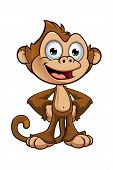 foto of cheeky  - A cartoon illustration of a cheeky monkey character - JPG