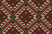 pic of tribal  - Vector illustration of seamless tribal knitted wool aztec design pattern - JPG