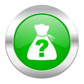 picture of riddles  - riddle green circle chrome web icon isolated  - JPG