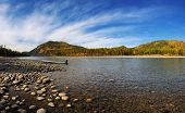 picture of siberia  - River shoal large mountain river in Eastern Siberia - JPG