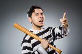 pic of inmate  - Funny prison inmate in concept - JPG