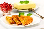 stock photo of briquette  - Pancakes - JPG