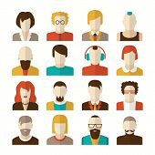 picture of iroquois  - Stylized character people avatars in flat style for social networks - JPG