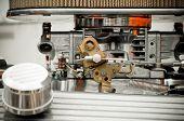 stock photo of carburetor  - carburetor closeup on a high performance car - JPG