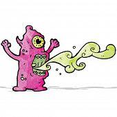 stock photo of grossed out  - gross monster cartoon - JPG