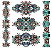 stock photo of adornment  - ornamental decorative ethnic floral adornment - JPG