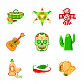 pic of pinata  - Colorful culture symbols - JPG