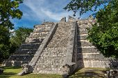 stock photo of mayan  - Beautiful view of historic Mayan Building - JPG