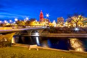 picture of kansas  - Kansas City Country Club Plaza area during Christmas - JPG