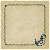 picture of anchor  - marine background with anchor old background  - JPG