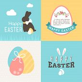 pic of easter card  - Happy Easter vector greeting card design - JPG