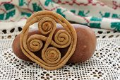 picture of swastika  - Teterki Russian rye cookies for spring equinox selebration horizontal - JPG