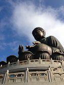 stock photo of lantau island  - Giant Buddha - JPG